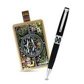 제이메타 C1 골드 카드형 자개USB 볼펜세트 4G