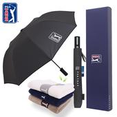 PGA 2단자동 클래식+130g 면사타올 우산선물세트