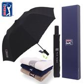 PGA 2단 엠보선염+130g 면사타올 우산선물세트