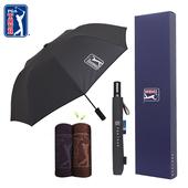 PGA 2단 자동 클래식+죽사 골프타올 우산선물세트