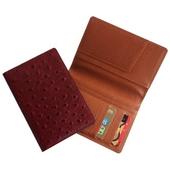 국산 타조무늬 천연가죽 여권지갑(1193)