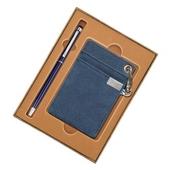 청색터치펜+목걸이카드지갑Set