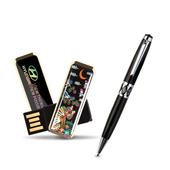 제이메타 S4 자개USB 볼펜 세트 4G
