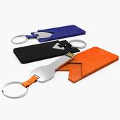 메탈 키 가죽 홀더 USB 8G