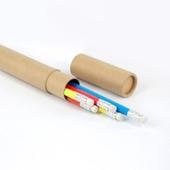 고급원형 무지개 연필5P세트(크라프트지)