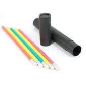 고급원형 무지개 연필5P세트(흑단케이스)