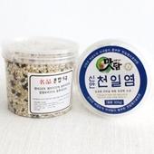 [선물세트(식품종합)]맛담천일염300g+혼합5곡250g(2p세트)