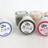 [선물세트(생활건강)] 맛담천일염300g+맛담색소금300g(2p세트)