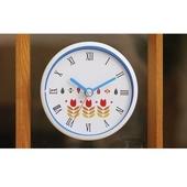 [욕실/방수시계]튤립 화이트투톤 흡착시계