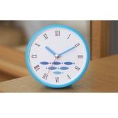 [욕실/방수시계]블루피쉬 컬러 흡착시계
