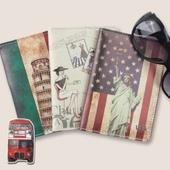 파스텔 패턴 여권지갑 여권케이스