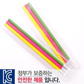 [국산]투명사각·육각지우개연필3P세트