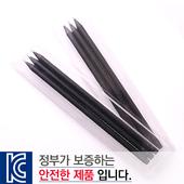 [국산]투명사각·흑목원형지우개연필3P세트
