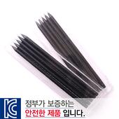 [국산]투명사각·흑목원형지우개연필5P세트