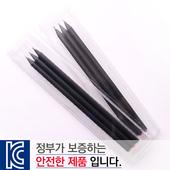 [국산]투명사각·보석연필3P세트