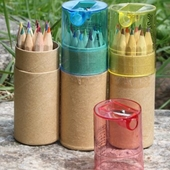 12색 색연필 연필깍이 세트