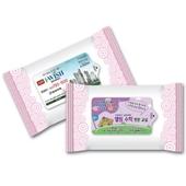 홍보용 분홍 물티슈 5매