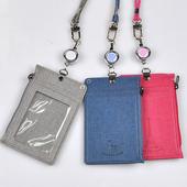 [카드지갑]지퍼 릴 목걸이카드지갑