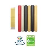 재생지 지우개 연필 5본입세트(흑색)