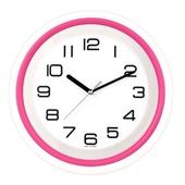 [벽시계]투톤투명 벽시계(핑크)