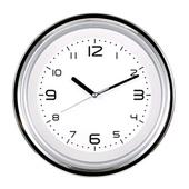 [벽시계]투톤투명 크롬벽시계