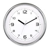 [벽시계]라운드투시 크롬벽시계