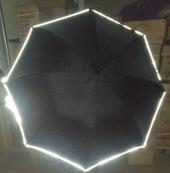75폰지검정올화이바반사띠우산 발광우산