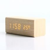 LED 나무시계 직사각형(소)