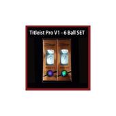 타이틀리스트 v1 6구 골프공세트 /골프모자/골프우산