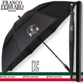 프랑코페라로 77 이중방풍 수동 골프우산(블랙)