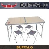 버팔로레저용접이식테이블, 의자세트
