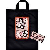 핑크플라워 지갑형 장바구니(국산)