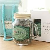 [선물세트(식품종합)]자연담은 솔잎차(미니메이슨자)