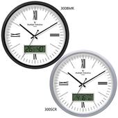 발렌티노 온도계습도계 무소음벽시계 300BMR