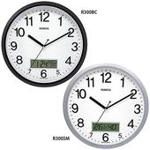 로니카 캘린더온도계 무소음벽시계 R300BC