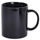 13온스 골드라인 블랙 머그컵
