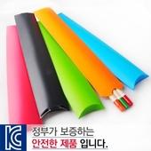 원목컬러원형미두연필 종이케이스3p
