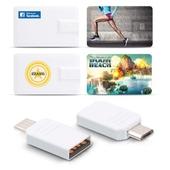 이지스-COU1 64GB 카드형 OTG USB메모리