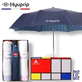 [우산선물세트]협립 3단 골드패턴 완전자동 우산+눈꽃타월 2P세트