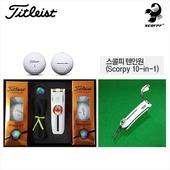타이틀리스트 Pro V1 6구+골프 올인원툴