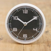 엘디자인화이트블랙 흡착방수시계