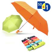 보그 3단 컬러파스텔 완전자동 우산