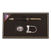 워터펜블랙+보상화타원 자개가죽열쇠고리