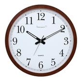 [벽시계]원형흰자판월넛벽시계