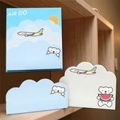 구름 두개 메모잇(주문제작형)