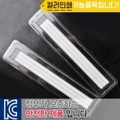투명사각 백색원형미두연필 3p