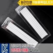 투명사각 백색원형미두연필5p
