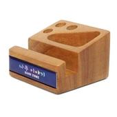 [휴대폰악세사리]원목큐브A  데스크용품 휴대폰거치대겸용(폰&펜&클립)사무용품