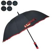 [장우산]60무지검정(바이어스혼합) 장우산