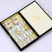 JJ303 제노바 순금학수저세트2벌+금도금거북받침2